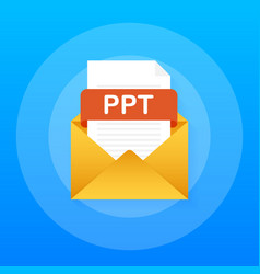 download ppt button downloading document concept vector image