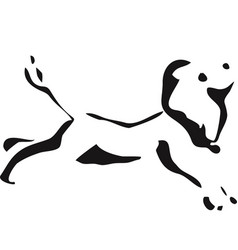 french running poodle black and white vector image