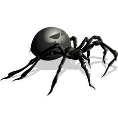 funny spider cartoon for you design vector image