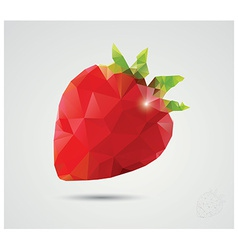 Geometric polygonal fruit triangles strawberry vector image