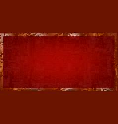 golden frame on a red background vector image