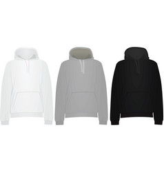hooded sweaters vector image