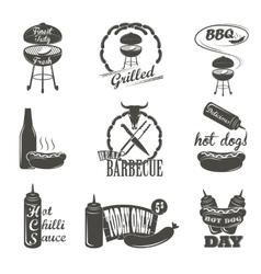 Hot dog vintage typography labels and design vector