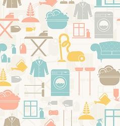 Housekeeping Seamless Pattern vector