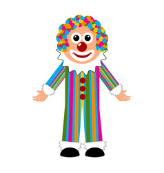 isolated happy circus clown vector image