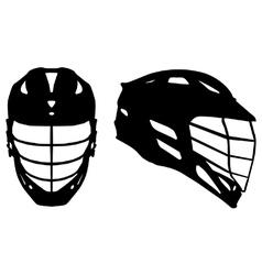 Lacrosse helmet vector