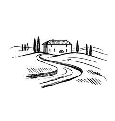 Landscape italian province tuscany vector