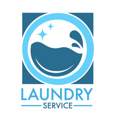 laundry service logo for professional cleaning vector image