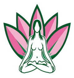 Lotus flower yoga resize vector