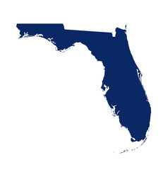 Map florida in blue colour vector
