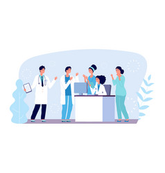 Medical consultation concept doctors characters vector