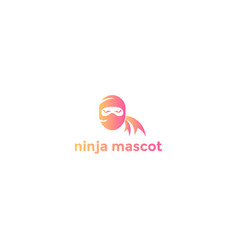 modern ninja head face spy mascot character logo d vector image