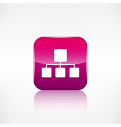 Network icon Application button vector image