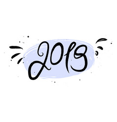 new year 2019 calligraphy phrase vector image