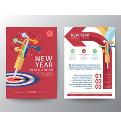 New Year Resolutions target concept vector