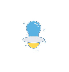 nipple icon design vector image