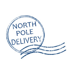 North pole delivery stamp vector
