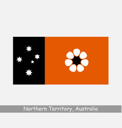 Northern territory australia flag nt au vector