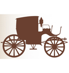 Old brown carriage vector