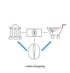 Online shopping vector