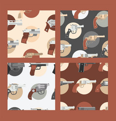 pistols seamless pattern western gun cowboys vector image