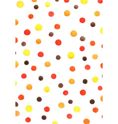 Polka dot watercolor hand painting background vector