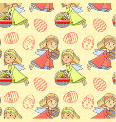 printeaster holiday colorful background vector image
