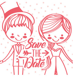 save date wedding vector image