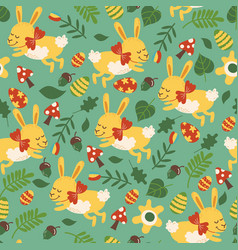 Seamless pattern for easter theme with cute vector