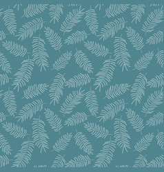 Seamless pattern with white tropical leaves vector