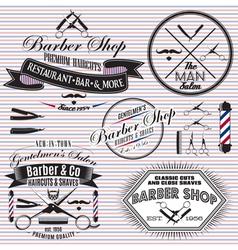 Set icons on a theme hair salon vector
