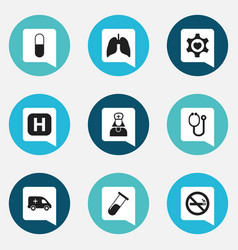 set of 9 editable care icons includes symbols vector image