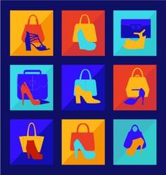 set of woman fashion women bag vector image