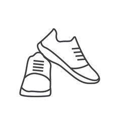Shoes design template isolated outline vector