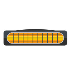 Small heater icon flat style vector