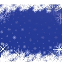 Snowflakes background blue vector image
