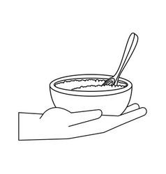 spa sea salt in bowl vector image