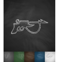 Speargun icon vector