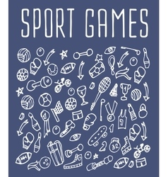Sport hand drawn seamless logo vector image