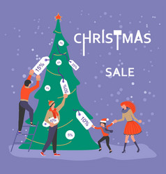 Square banner for christmas sale vector