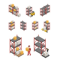 Storage Racks Set vector