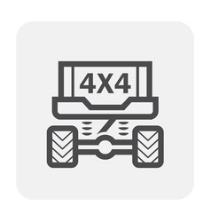Suv offroad icon vector
