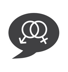 Talk about sex glyph icon vector