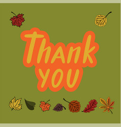 thank you for greeting card postcard poster vector image