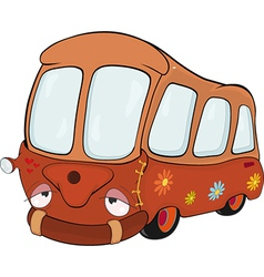 The little red school bus vector image