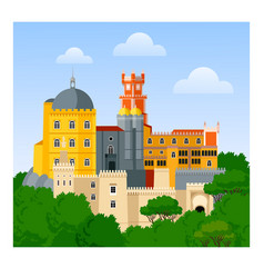 The pena palace vector