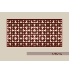 The template pattern for decorative panel vector