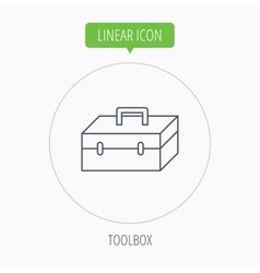 Toolbox icon Repair instruments sign vector image