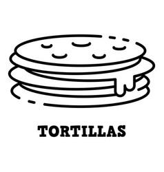 Tortillas icon outline style vector