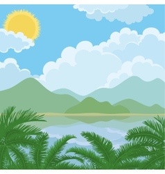Tropical sea summer landscape vector image